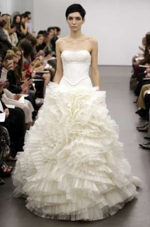 Ornate Princess Bridal Gowns - Brides to Be Can't Go Wrong with the Vera Wang Bridal Collection