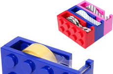 Building Block Desk Accessories - The LEGO Tape Dispenser is a Playful Way to Organize Your Supplies