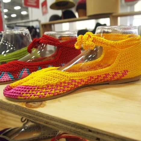 Multicolor Crochet Shoes