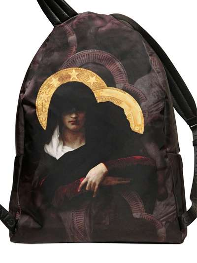 Religious Iconography Backpacks - The Givenchy Luxury Backpack is an Art Piece