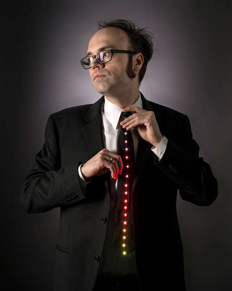 LED-Equipped Ties - These LED Neckties Will Bring Light to Any Dark Room