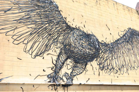 Wired Avian Graffiti - The Pow Wow 13 Art Movement Features Some Incredible Talent