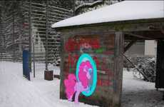 Overseas Portal Graffiti Pieces - M99moron and ShinodaGE Join Two Countries with Art