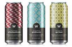 Elaborately Patterned Pop Cans - Doublevee Packaging Visually Alludes to Stimulating Flavor