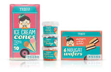 Nostalgic Dessert Merchandizing - Tesco Mr. Nicecream Packaging Entices the Child in Every Consumer