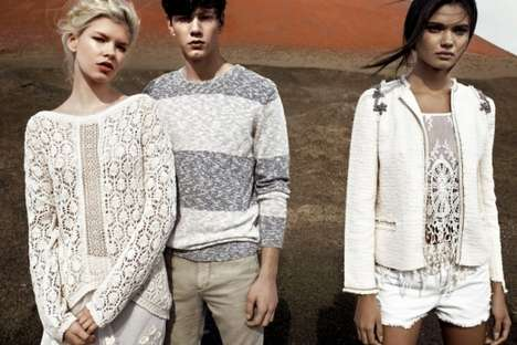 Youthful Desert Attire - The Pull & Bear Spring/Summer is Laid-Back Chic
