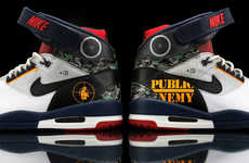Rebellious Rapper Runners - These Nike Air Revolution Shoes Come with a Public Enemy Customization