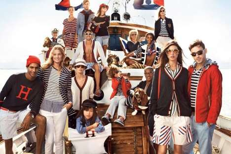 Striped Nautical Campaigns - The Tommy Hilfiger Spring/Summer Exudes Effortless Chic