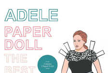 Pop Star Paper Dolls - These Paper Dolls Will Put Some Pop Into Your Display Shelf