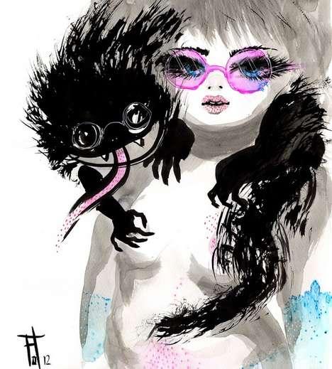 Dark Harajuku Girl Graphics