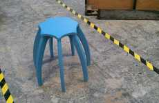 Whimsical Spider Seating - The Quirky Milli Stool Takes an Arachnid Form with a Single Missing Leg