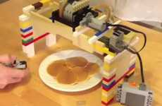 Building Block Dispensers - Miguel Valenzuela's LEGO Peristaltic Syrup Pump Makes Breakfast Easy
