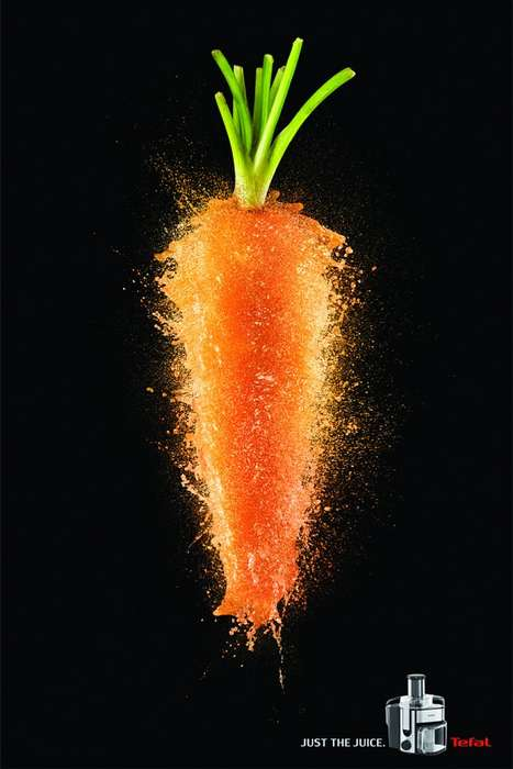Vivid Bursting Vegetable Ads