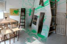 Imaginative Sketchbook Spaces - The Brainstorming Room Offers Walls and Floors as Blank Pages