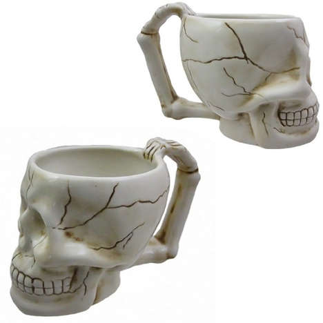 Spooky Skeletal Mugs