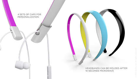 Headphone-Integrated Headbands