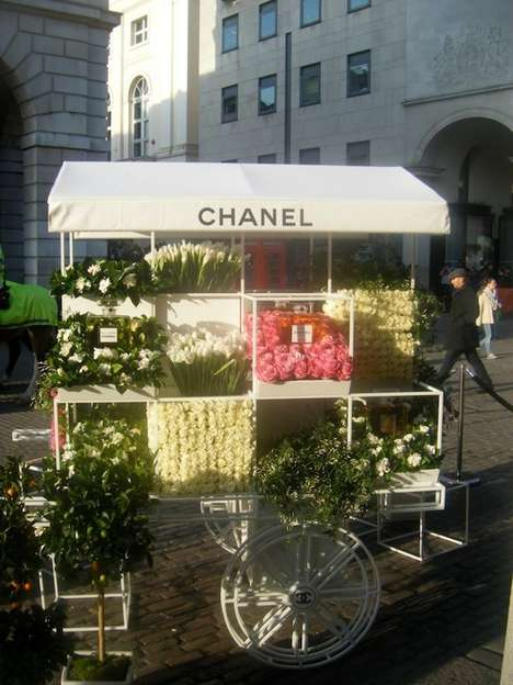 Couture Street Vendors - The Chanel Vending Cart in London's Covent Garden is Glam