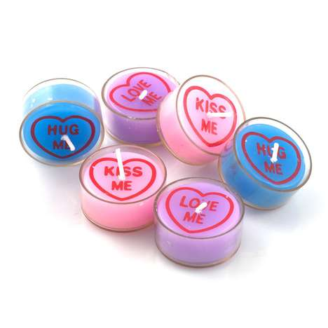 Candy Heart-Shaped Candles