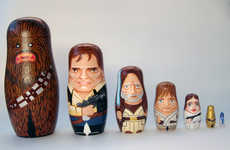Sci-Fi Matryoshka Dolls - The Star Wars Nesting Dolls by Andy Stattmiller are Made for Geeks