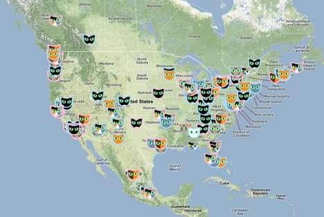 Interactive Global Cat Maps