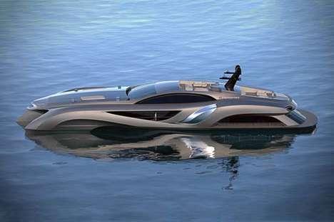 Streamlined Sci-Fi Speedboats