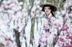 Cherry Blossom Editorials - The Photoshoot by Danil Golovkin for Collezioni Magazine is Exotic