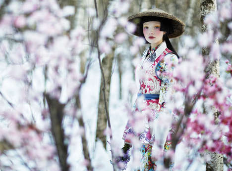 Cherry Blossom Editorials