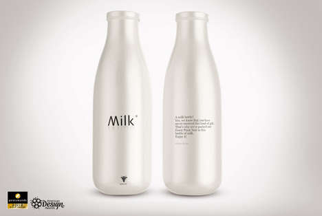 Dairy-Disguised Alcohol - Undercover Wine Packaging Has an Understated Look for Easy Delivery