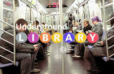 Digital Subway Libraries - New York Commuters Tap into the Digital Subway Library for Free Reads