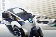 Motorcycle-Inspired Automobiles - The Toyota i-Road Offers the Maneuverability Without the Exposure