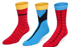 Heroic Costume Socks - These Marvel Superhero Socks Will Make You Feel Heroic From the Ankles Down