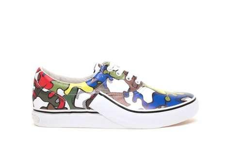 Art-Splattered Sneakers