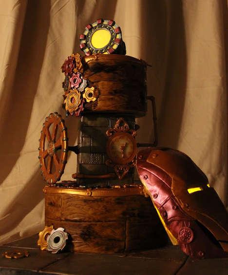 Superhero Steampunk Cakes