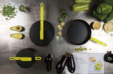 Exaggerated Handled Pans - The Karim Rashid's Hook Collection Latches to the Contemporary Lifestyle