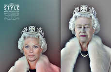 Fashionably Crowned Celeb Ads - The Sunday Times Style Best Dressed List Campaign is Aristocratic
