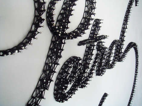 Geometrically Threaded 3D Typography