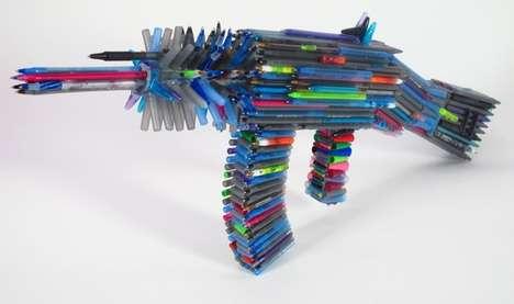 Stylus Rifle Sculptures