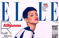 Retro RnB Songstress Covers - The Rihanna Elle UK Fashion Story Channels a 60s MOD Inspiration