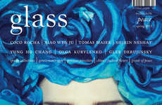 Blue-Hued Botanical Covers - The Coco Rocha Glass Magazine Editorial Showcases Artful Headpieces