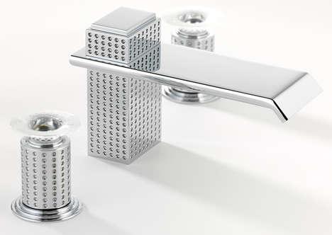Droplet-Engraved Bathroom Fittings