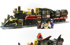 Movie-Inspired Trains - This Fan-Made LEGO Train from Back to the Future Part III is Impressive