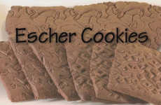 3D Cookie Art - Taste Design Like Never Before with These M.C. Escher 3D Cookies
