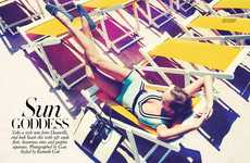 Beach-Lounging Photoshoots - The Harper's Bazaar Singapore 'Sun Goddess' Editorial Stars Veronika