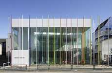 Colorful Stick Architecture - The Ekoda Sugamo Shinkin Bank is Cheerful and Playful
