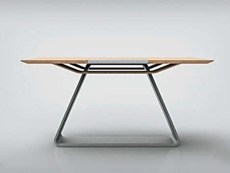 Built-In Laptop Stand Desks