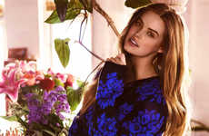 Patterned Plus-Sized Fashion - The Cosmopolitan Australia Editorial Stars Robyn Lawley
