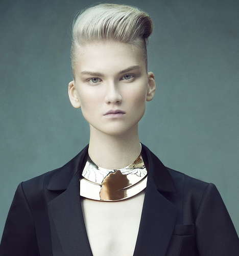 Androgynous Bouffant Editorials