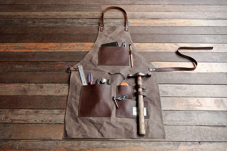 Dapper Masculine Aprons - Trvr's Gentleman's Apron Mixes Designer Fashion and Workplace Apparel