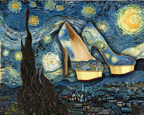Art Appreciation Heels - These Arty Shoes by Boyarde Messenger Recreate Famous Paintings