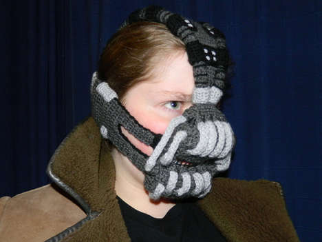 Villainous Crocheted Masks - This Crocheted Bane Mask is Essential for Woolly Battles with Batman